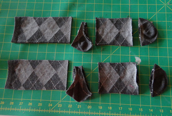 Crew socks cut to make infant leggings