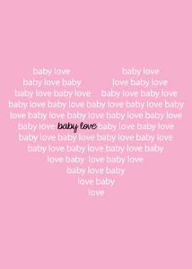 pink and white baby love shower printable