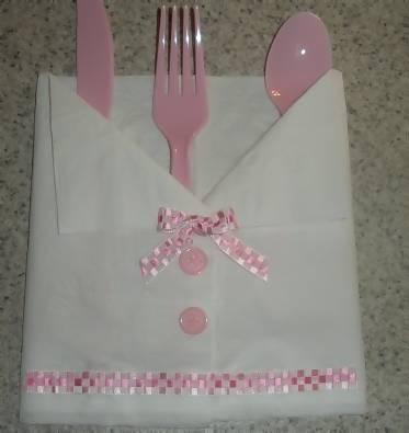 Pink And White Girl Napkin Baby Shirt