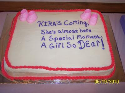ideas to use for your baby shower cake inscription