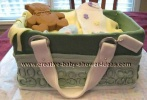 realistic looking green coach diaper bag cake