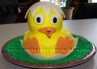 hatching yellow baby duck cake