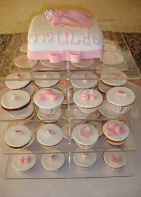... Front of Baby Shower Cupcake Stand & Baby Shower Cupcakes - Photos and Instructions