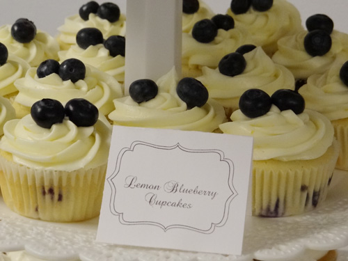 lemon blueberry baby shower cupcakes