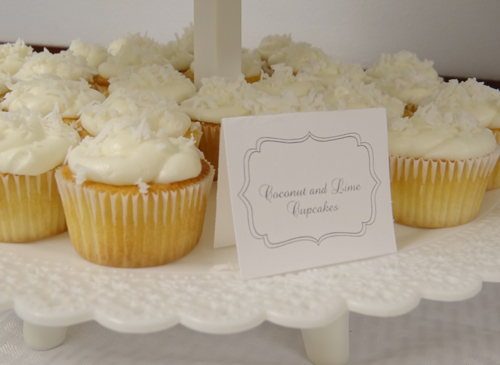 coconut lime baby shower cupcakes