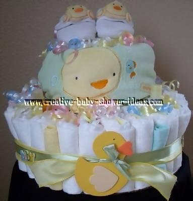 soft ducks diaper cake