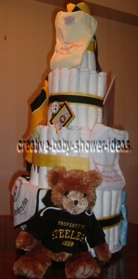 pittsburgh steelers baby shower diaper cake