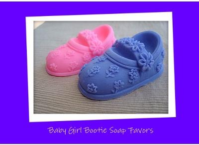 baby bootie soap favors