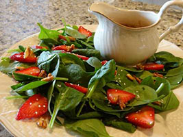 strawberry salad and poppy seed dressing