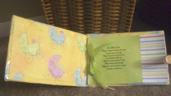 baby shower scrapbook