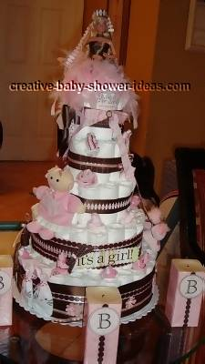 barbie doll princess diaper cake