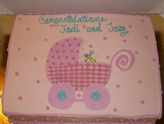 bassinet baby shower cake