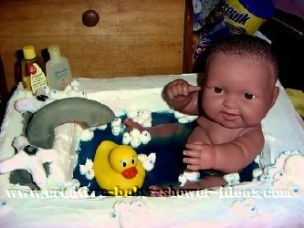 baby doll bathtub cake