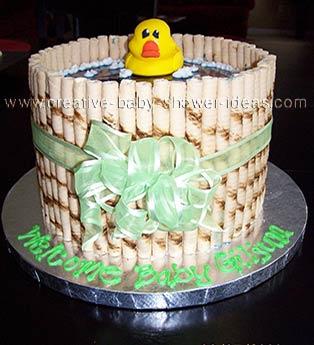 Duck in a Barrel Bathtub Cake