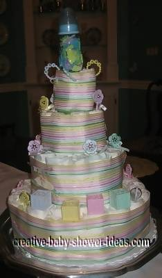blocks diaper baby cake