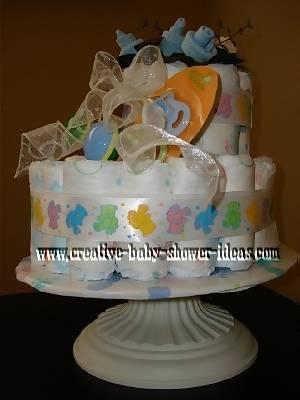 baby bootie diaper cake