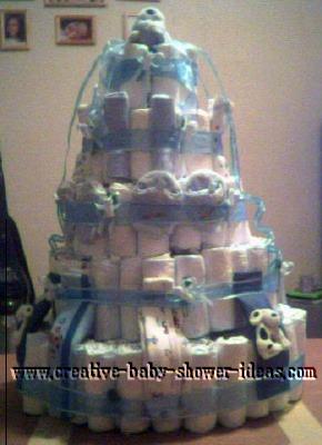 boy diaper cake