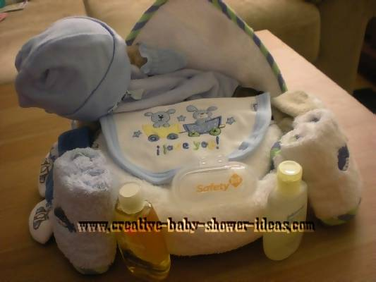 decorating ideas for a towel cupcake teddy bear and baby supplies
