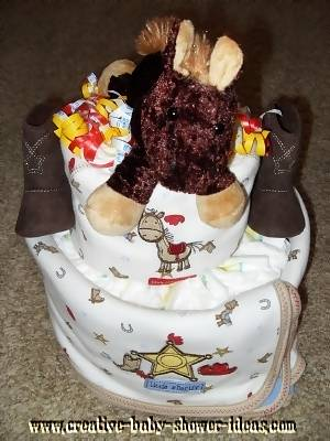little buckaroo blanket diaper cake
