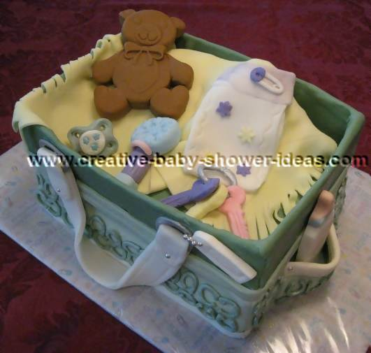 coach purse baby shower cake