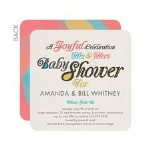 colorful fonts baby shower invitation