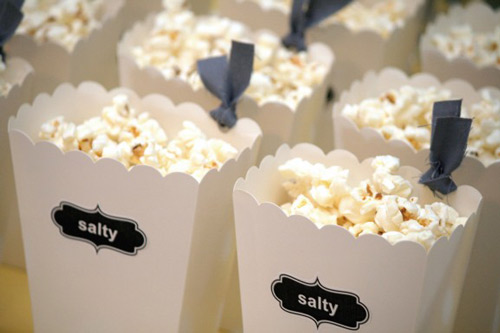 popcorn display for cravings gender reveal