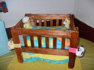 how to make a diaper crib