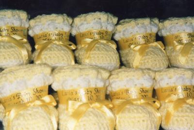 Yellow Crocheted Baby Booties