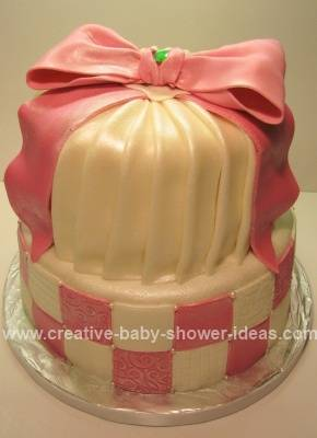 pink baby shower crown cake