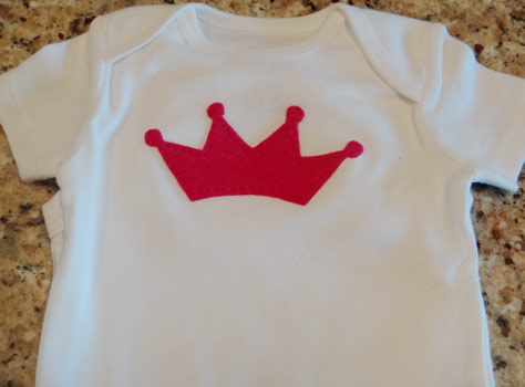 felt princess crown onesie