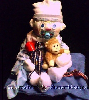 monkey baby with pacifier diaper animal