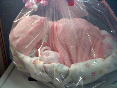 girl diaper baby wrapped in pink blanket