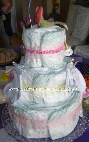 spring baby spoons diaper baby cake