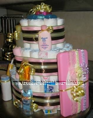 mom mom stripes diaper baby cake