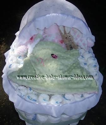inside diaper bassinet cake