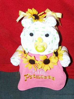 sunflower diaper bear
