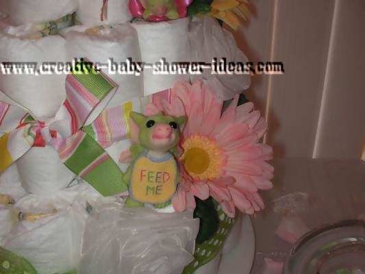 Clinton S Baby Shower Decorations ~ Diaper cake how to pictures