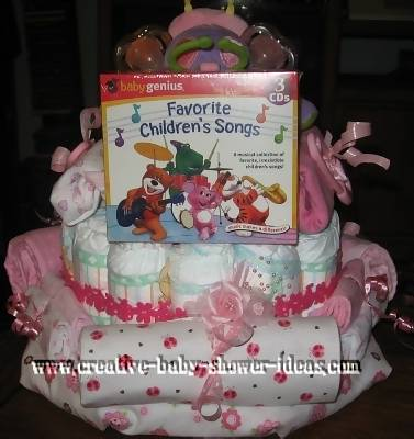diaper cake centerpiece