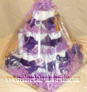 pruple kansas state diaper cake
