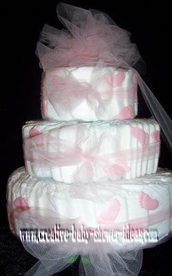 diaper cake centerpieces