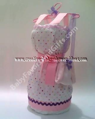 baby apron dress diaper cake