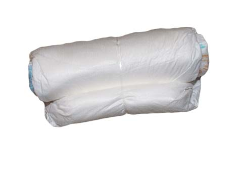 rolled diaper with rubberband for making diaper cake