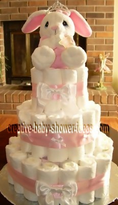 princess bunny diaper cake