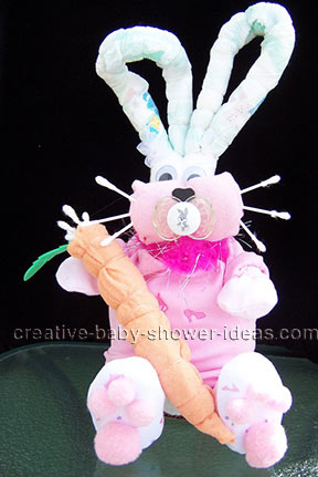 diaper bunny rabbit with carrot