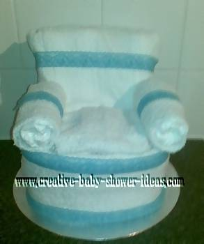 finished diaper cake chair