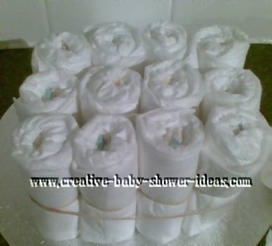 bottom layer of diaper cake craft