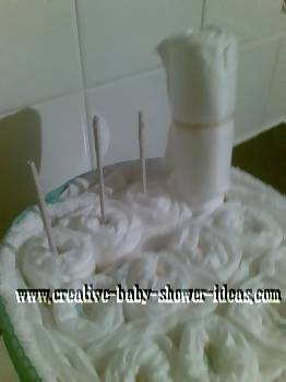 back structure for diaper cake chair craft