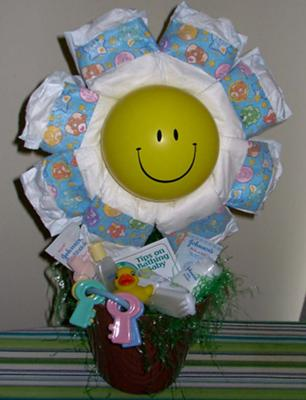 Sunshine Diaper Centerpiece