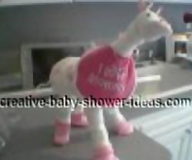 pink diaper giraffe