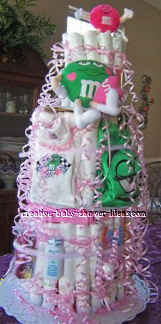 diaper shower cake